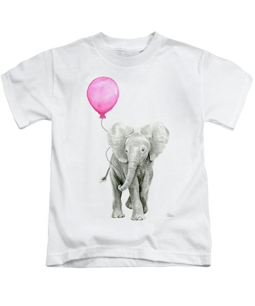 Baby Elephant Watercolor  Kids T-Shirt