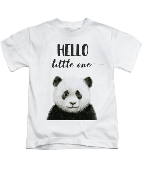 Baby Panda Hello Little One Nursery Decor Kids T-Shirt