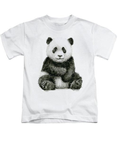 Baby Panda Watercolor Kids T-Shirt