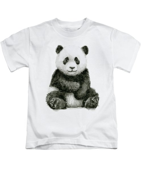 Baby Panda Watercolor Kids T-Shirt