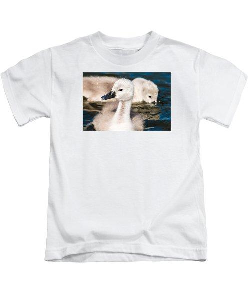Baby Swan Close Up Kids T-Shirt