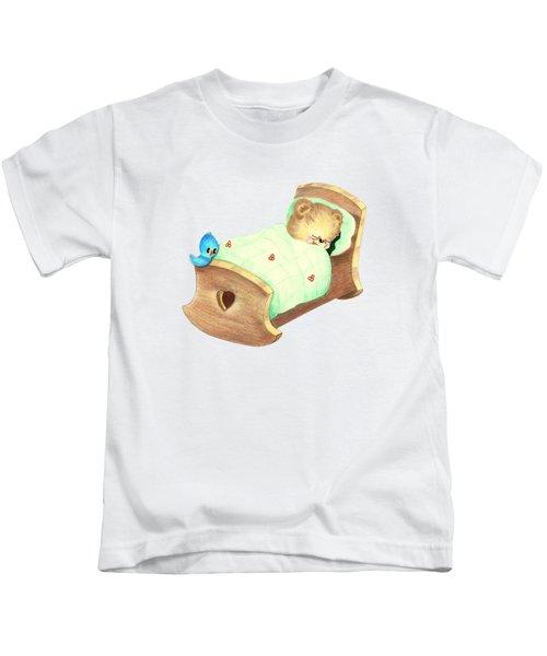Baby Teddy Sweet Dreams Kids T-Shirt by Linda Lindall