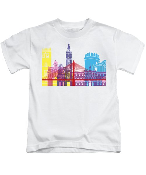 Badajoz Skyline Pop Kids T-Shirt