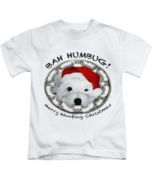 Bah Humbug Merry Woofing Christmas Kids T-Shirt