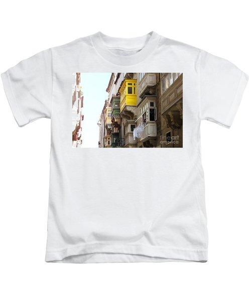 Balconies Of Valletta 1 Kids T-Shirt