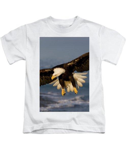 Bald Eagle In Action Kids T-Shirt
