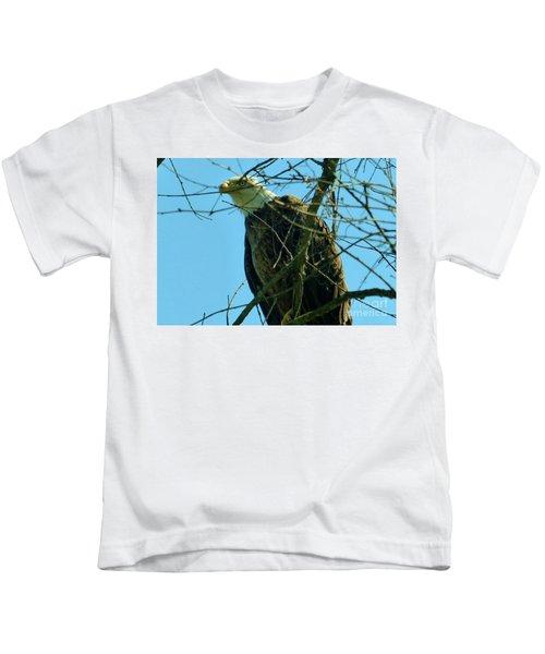 Bald Eagle Keeping Guard Kids T-Shirt