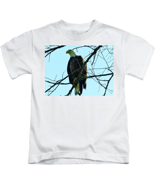 Bald Eagle Over The Root River Kids T-Shirt
