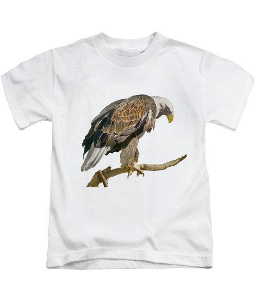 Bald Eagle - Transparent Kids T-Shirt