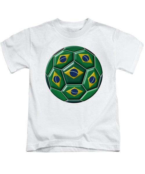 Ball With Brazilian Flag Kids T-Shirt