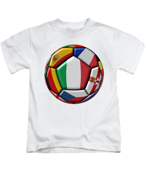 Ball With Flag Of Italy In The Center Kids T-Shirt