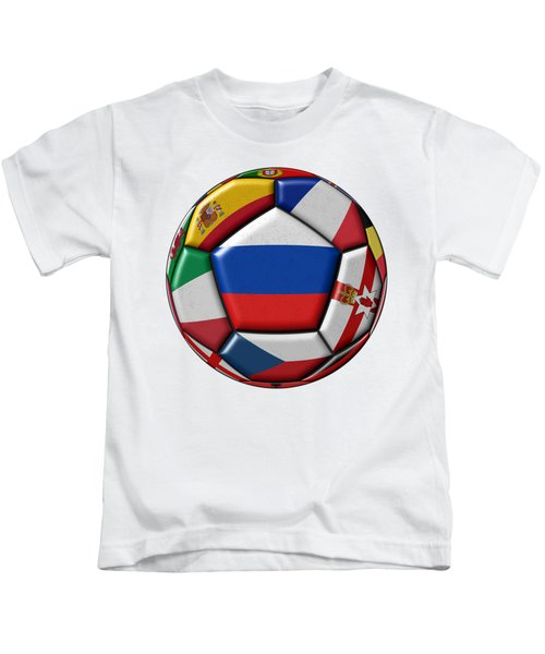 Ball With Flag Of Russia In The Center Kids T-Shirt