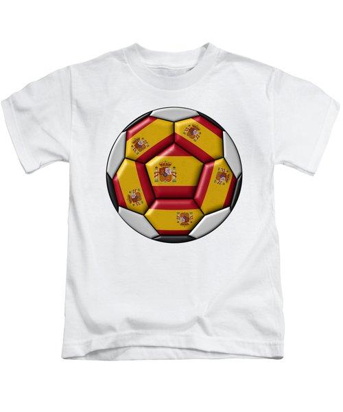 Ball With Spanish Flag Kids T-Shirt