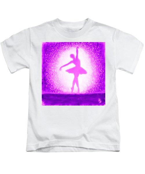Ballerina Purple And Pink Kids T-Shirt