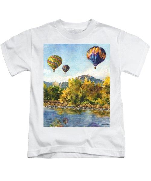 Balloons At Twin Lakes Kids T-Shirt