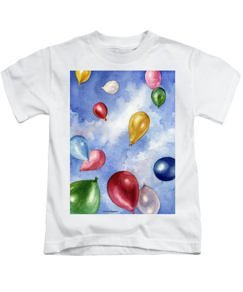 Balloons In Flight Kids T-Shirt