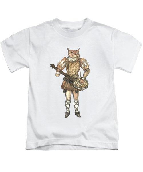Banjo Cat Kids T-Shirt