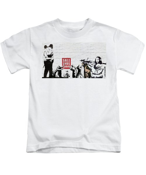 Banksy - Saints And Sinners   Kids T-Shirt