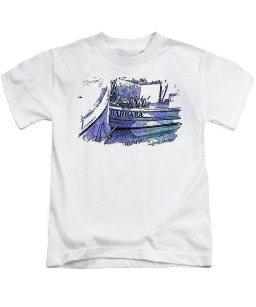 Barbara Berry Blues 3 Dimensional Kids T-Shirt