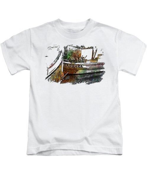 Barbara Muted Rainbow 3 Dimensional Kids T-Shirt