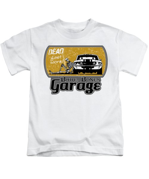 Bare Bones Garage Kids T-Shirt