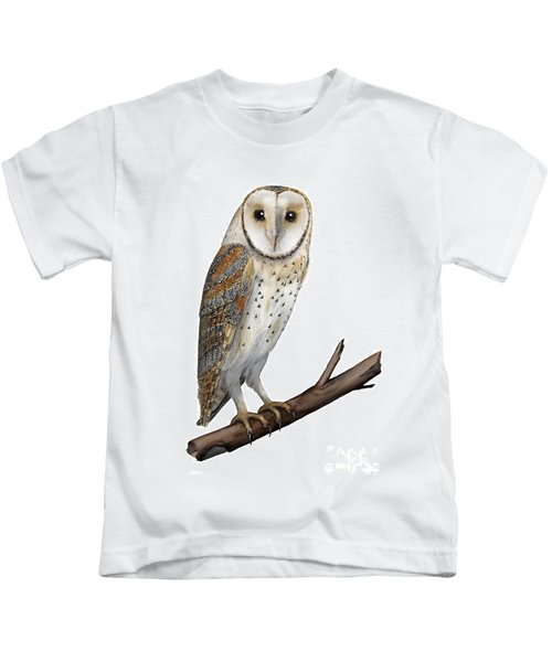 Barn Owl Screech Owl Tyto Alba - Effraie Des Clochers- Lechuza Comun- Tornuggla - Nationalpark Eifel Kids T-Shirt