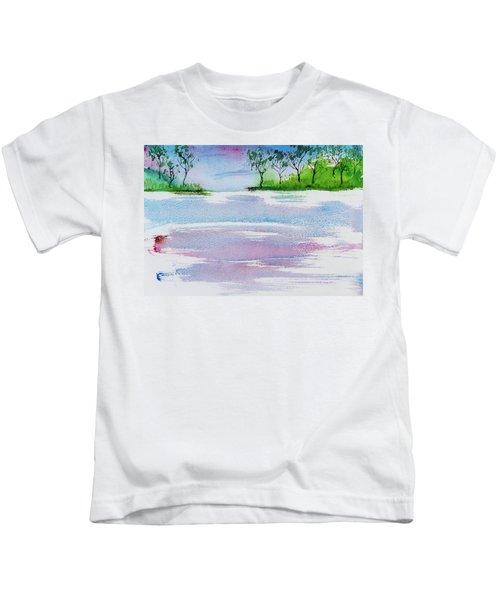 Gum Trees Frame The Sunset At Barnes Bay Kids T-Shirt