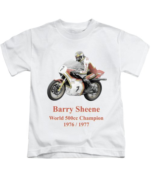 Barry Sheene 2, The Hand Tinted Version Kids T-Shirt