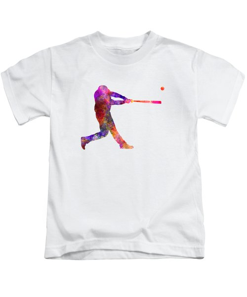 Baseball Player Hitting A Ball 01 Kids T-Shirt