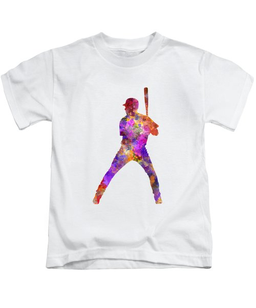 Baseball Player Waiting For A Ball Kids T-Shirt