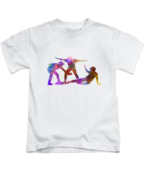 Baseball Players 03 Kids T-Shirt by Pablo Romero