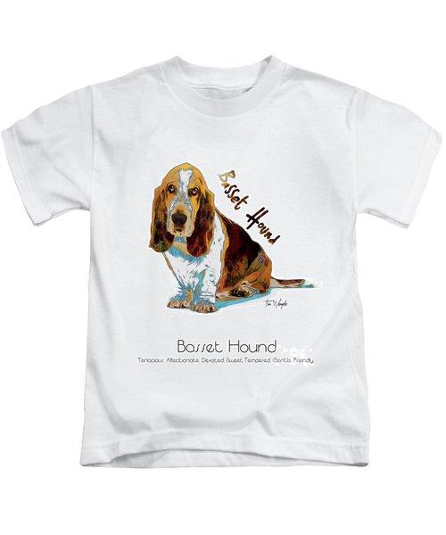 Basset Hound Pop Art Kids T-Shirt