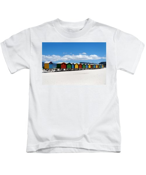 Beach Cabins  Kids T-Shirt