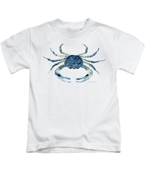 Beach House Sea Life Blue Crab Kids T-Shirt
