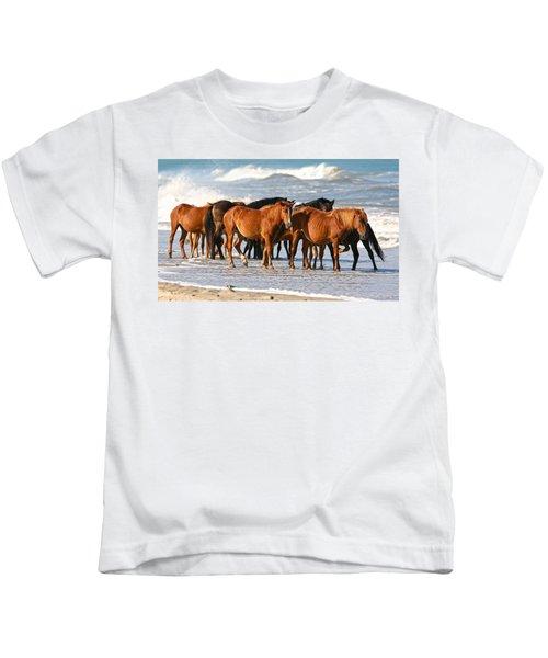 Beach Ponies Kids T-Shirt