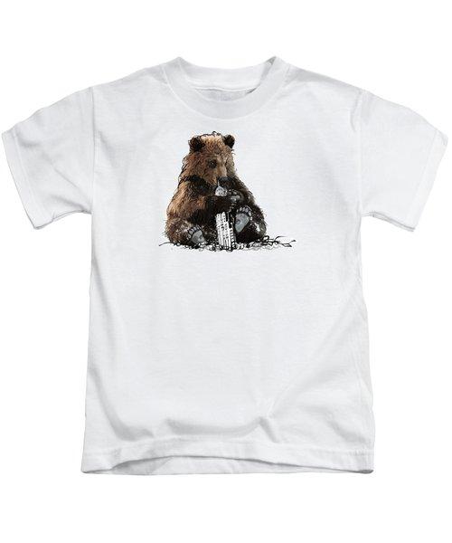 Bear Loves Ny Kids T-Shirt by Devlin