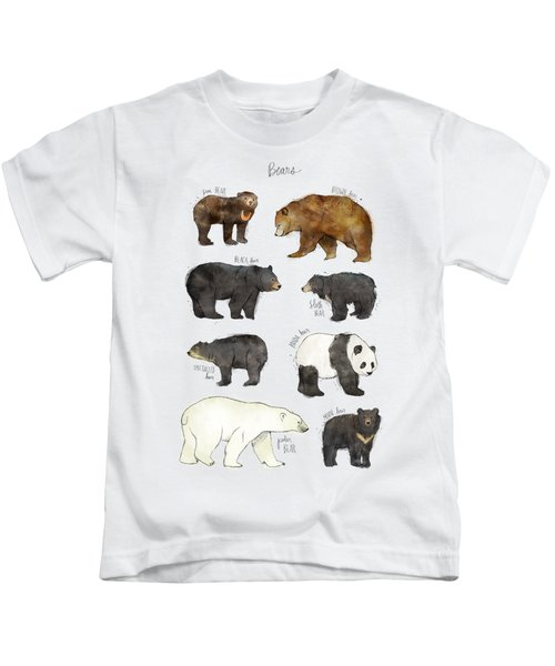 Bears Kids T-Shirt by Amy Hamilton
