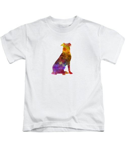 Beauceron In Watercolor Kids T-Shirt by Pablo Romero