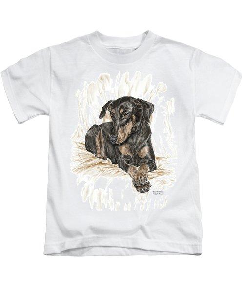 Beauty Pose - Doberman Pinscher Dog With Natural Ears Kids T-Shirt
