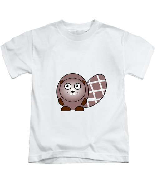 Beaver - Animals - Art For Kids Kids T-Shirt by Anastasiya Malakhova
