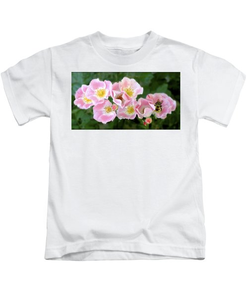 Bee And Roses Kids T-Shirt