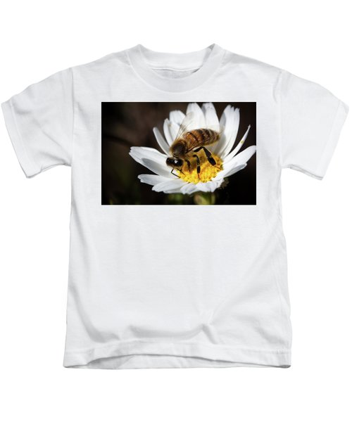 Bee On The Flower Kids T-Shirt