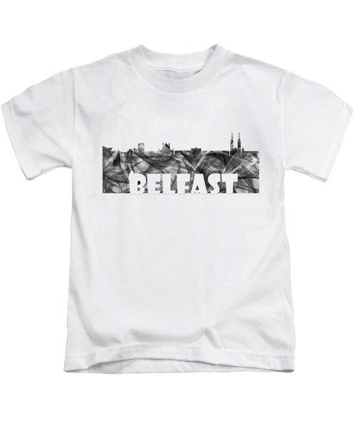Belfast Ireland Skyline Kids T-Shirt