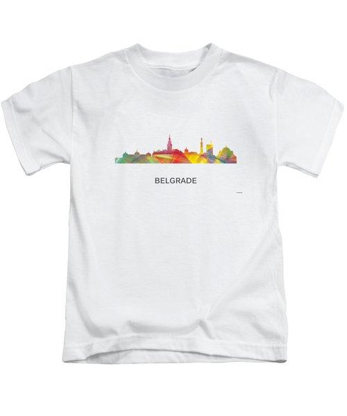 Belgrade Serbia Skyline Kids T-Shirt