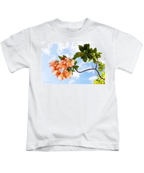 Bell Flowers In The Sky Kids T-Shirt