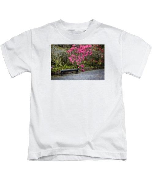 Bench In Azalea Garden Kids T-Shirt