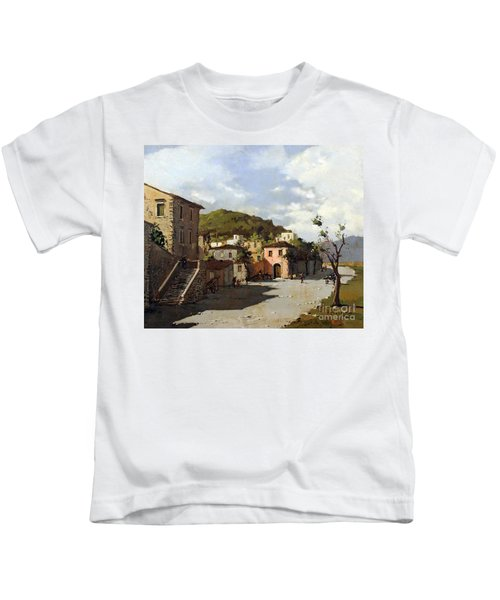 Provincia Di Benevento-italy Small Town The Road Home Kids T-Shirt