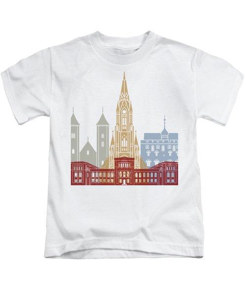 Bergen Skyline Poster Kids T-Shirt