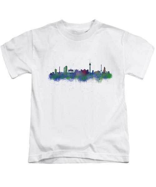 Berlin City Skyline Hq 2 Kids T-Shirt by HQ Photo