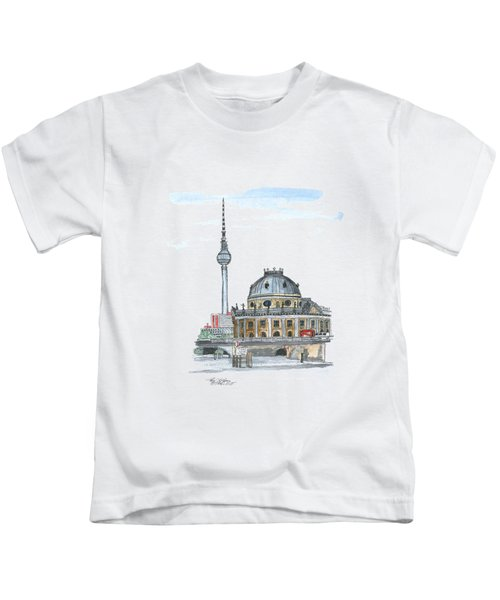Berlin Fernsehturm Kids T-Shirt by Petra Stephens